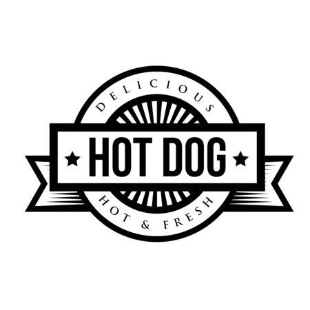vintage stamp: hot Dog bread sausage mustard vintage stamp