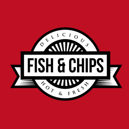 fish and chips: Fish and Chips vintage stamp
