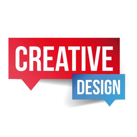 co workers: Creative Design lettering speech bubble