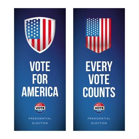 Presidential election banner or poster set