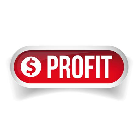 stock chart: Stock Chart button vector Illustration
