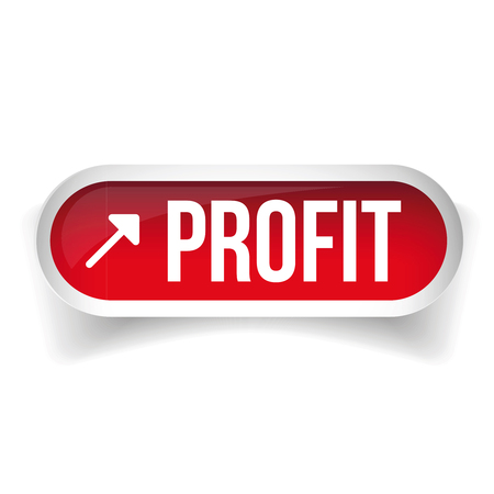 stock chart: Growing Profit Stock Chart button vector