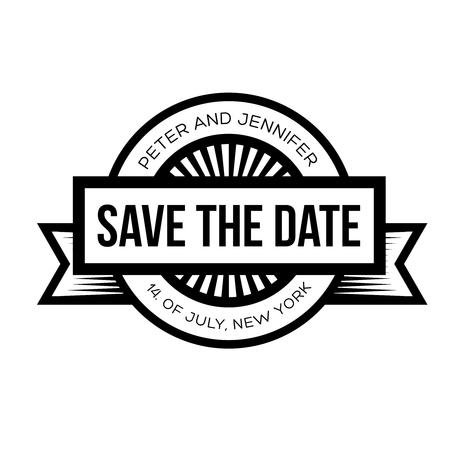 Save the Date - Retro Wedding Invitation