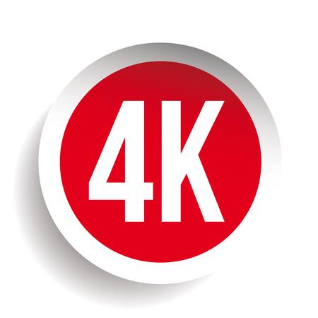 4K ultra HD icon - High Definition vector Illustration