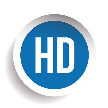 high: HD button - High Definition vector