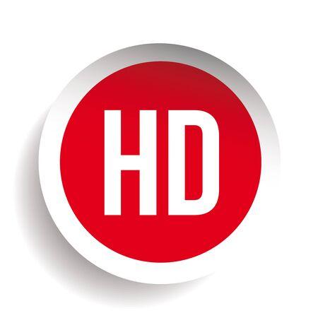 definicion: botón HD - High Definition vectorial