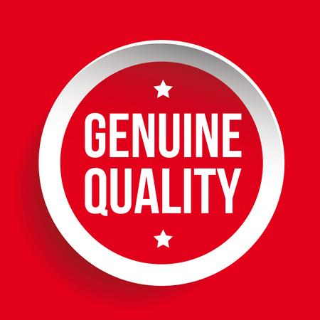 qc: Genuine Quality vector sticker red Illustration