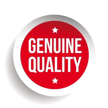 Qualità genuina adesivo vettore rosso