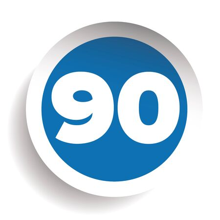 ninety: Number ninety icon vector
