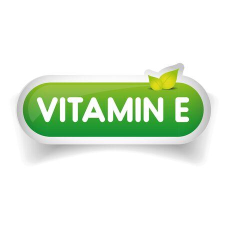 Vitamin E label vector Banco de Imagens - 61235102