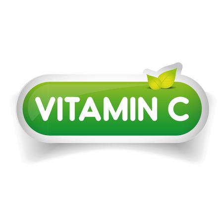 vitamin a: Vitamin C label vector
