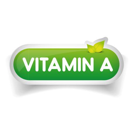 vitamin a: Vitamin A label vector