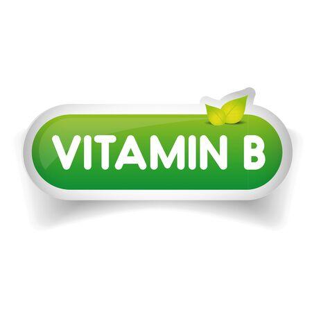 b ball: Vitamin B label vector