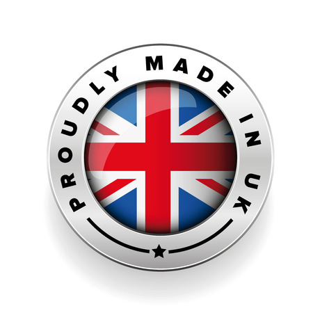 proudly: Proudly Made in The UK silver badge