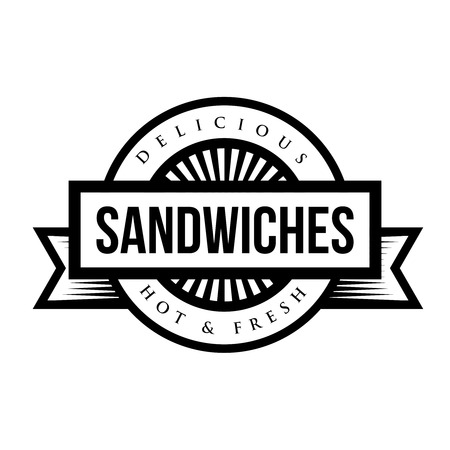 stamp vector: Sandwiches vintage stamp vector