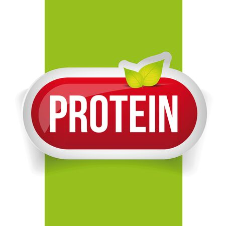 protein: Protein button or pill vector