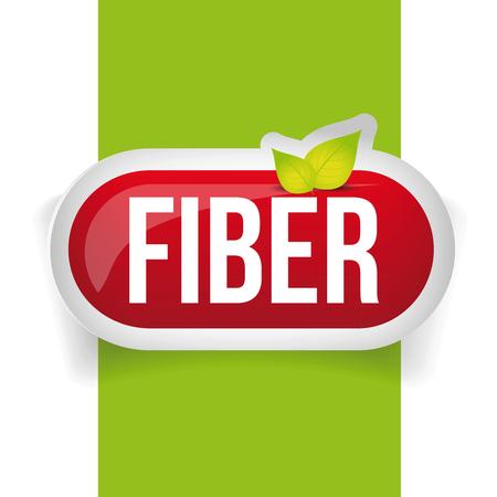 Fiber in Foods button vector