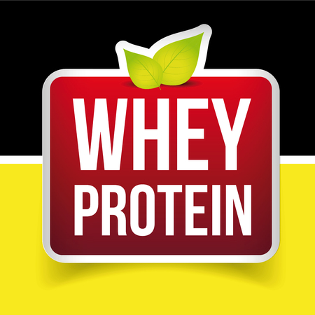 protein: Whey Protein label vector