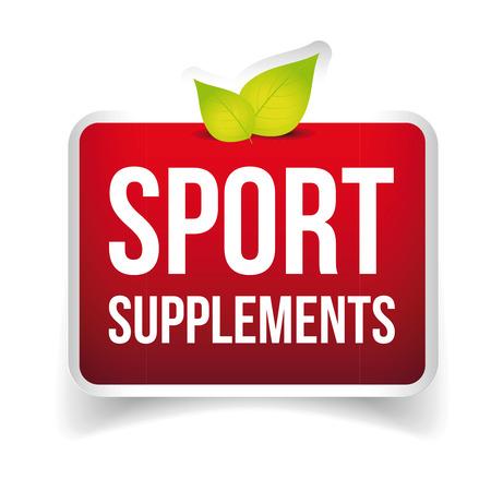 supplements: Sport Supplements vector sign