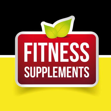 supplements: Fitness Supplements vector sign