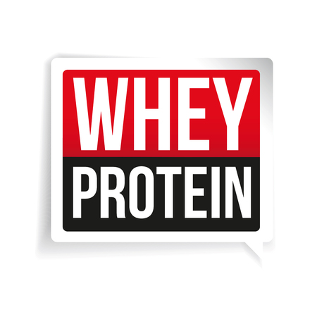 whey: Whey Protein label vector