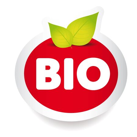 bio food: Bio food label vector Illustration