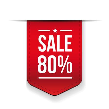 ribon: Sale 80% off banner red ribon