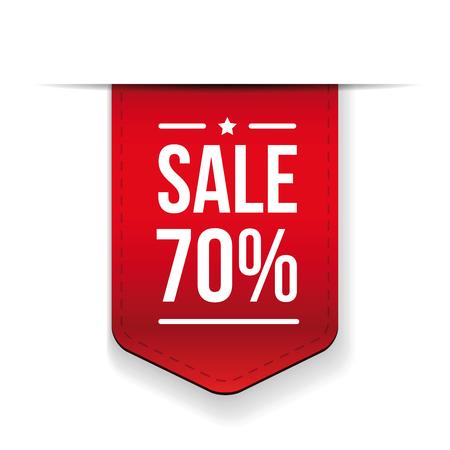 ribon: Sale 70% off banner red ribon