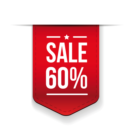 ribon: Sale 60% off banner red ribon