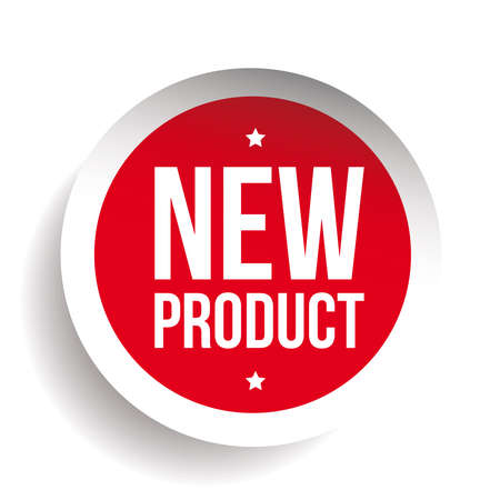 New Product sticker red Stock Illustratie