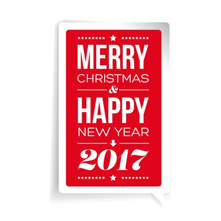 dec  25: Vector Merry Christmas and Happy New Year card design