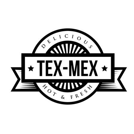 cuisine: Mexican Cuisine vintage sign - Tex-Mex Illustration
