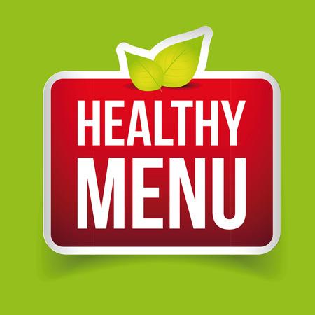 Healthy Menu vector sign red