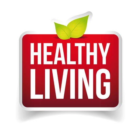 sweetener: Healthy Living button vector red Illustration
