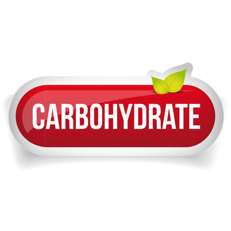 carbohydrate: Carbohydrate button vector red