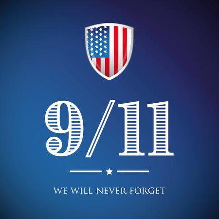 We will never forget - September 11, 2001 Illustration