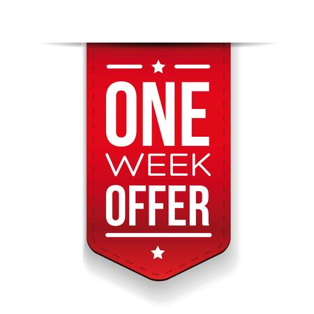 red ribbon week: One Week Offer Red ribbon Illustration