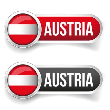 banderole: Austria button set