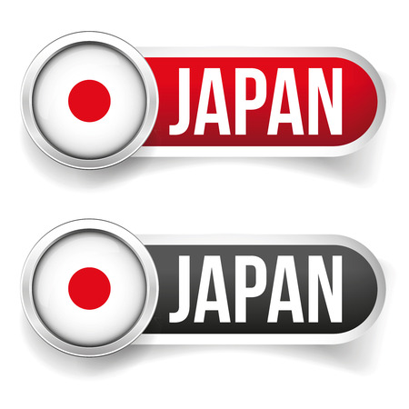 Japan flag sign button