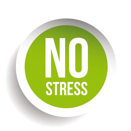 No Stress Label button vector