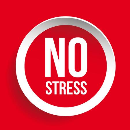 overcome: No Stress Label button vector