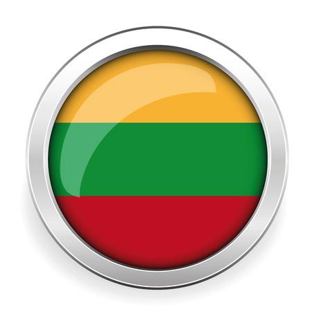 silver: Lithuania flag silver button