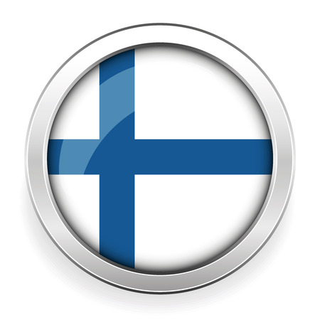 made in finland: Finland flag button vector