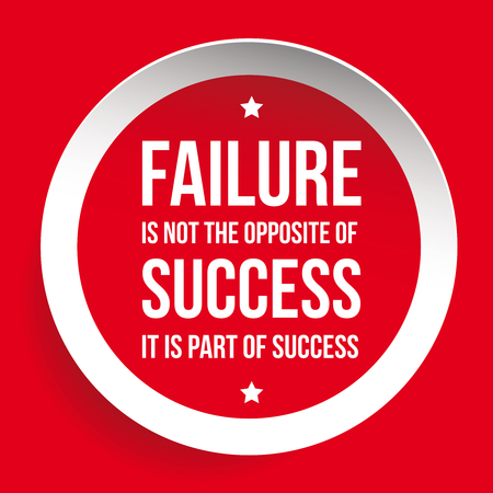 decorate notebook: Failure is not opposite of success - Inspirational motivating quote