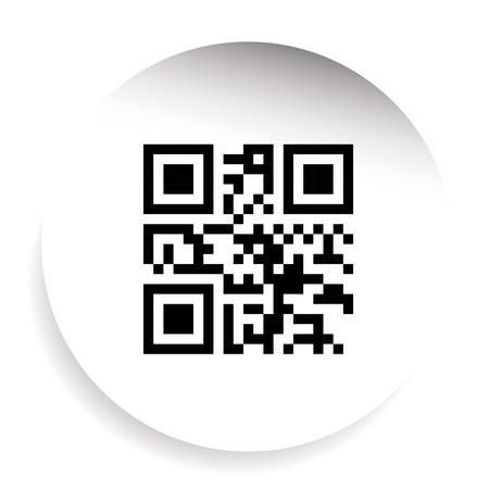 qrcode: QR code labe sticker vector