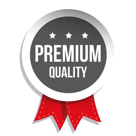 higher quality: Premium quality label vector grey