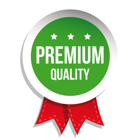 higher quality: Premium quality label vector green