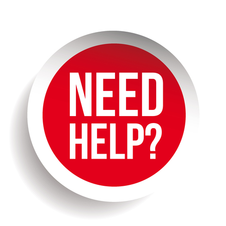 need: Need help? Question icon vector label