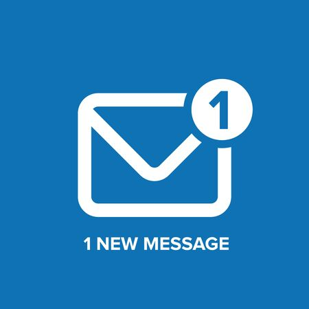torrent: Message or email  icon vector blue