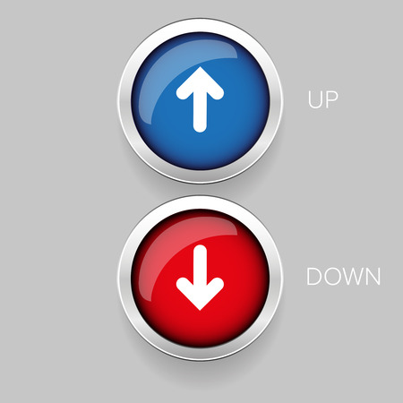 Up and Down button set Illustration